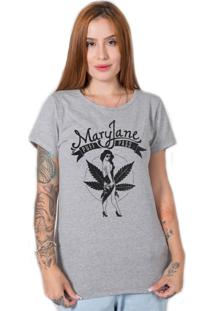 Camiseta Stoned Mary Jane Cinza - Tricae