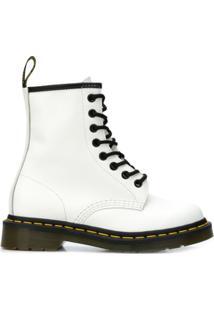 Dr. Martens Ankle Boot De Couro - Branco