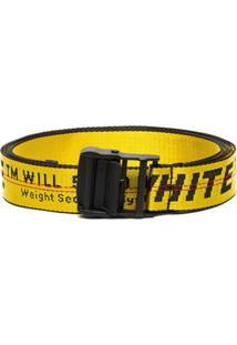 Off-White Cinto 'Industrial' Com Logo - Amarelo