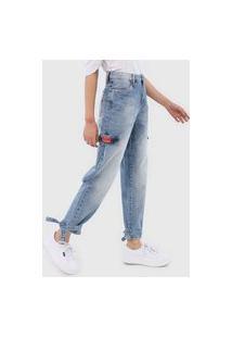 Calça Jeans Carmim Reta Finlandia Azul
