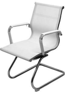 Cadeira Eames Telinha Fixa Branca Cromada - 29078 - Sun House
