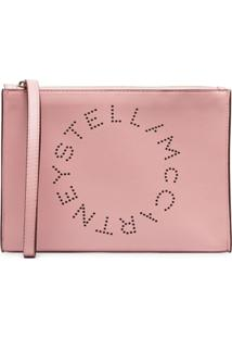 Stella Mccartney Clutch Com Zíper - Rosa