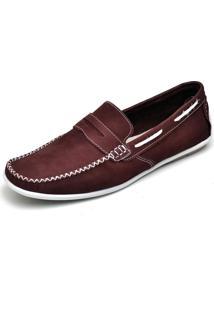 Mocassim Couro Dr Shoes Bordo