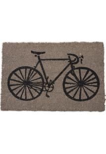 Capacho Bicicleta Cinza/Preto 40X60Cm