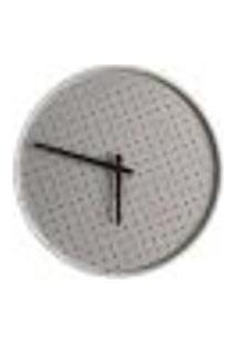 Relógio Round Branco Mostrador Branco Perfurado 50 Cm