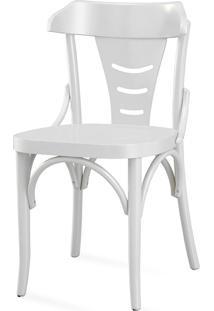 Cadeira Para Cozinha Com Assento Ergonômico - Laca Branca - Augustine - 45X50,5X83 Cm