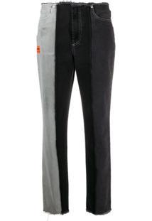 Heron Preston Calça Jeans Destroyed Com Recortes - Preto