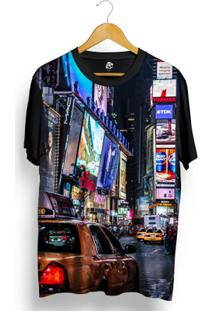 Camiseta Bsc New York Full Print - Masculino-Preto