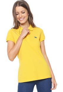 ... Camisa Polo Acostamento Logo Amarela fa1c3bc4e1e9a