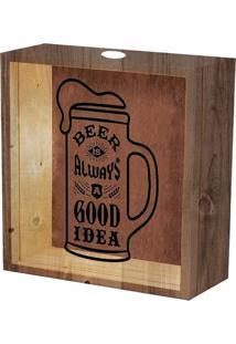 Quadro De Madeira E Vidro Para Tampinhas De Cerveja