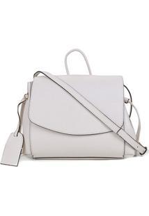 Bolsa Couro Shoestock Shoulder Bag Feminina - Feminino-Off White