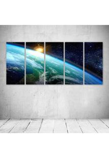 Quadro Decorativo - Planet Sky Light - Composto De 5 Quadros