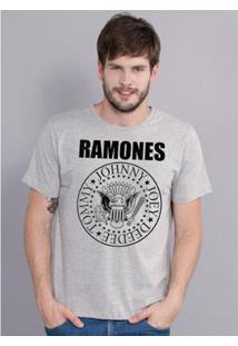 Camiseta Bandup Ramones Logo - Masculino-Mescla
