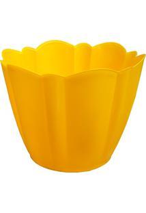 Vaso Cachepot Grande Amarelo