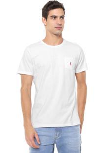 Camiseta Coca-Cola Jeans Aroma Bolso Branca