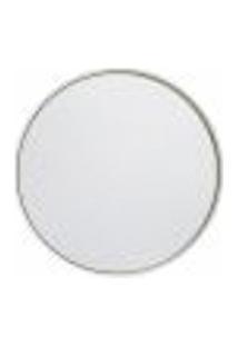 Espelho Decorativo Round Interno Branco 60 Cm Redondo