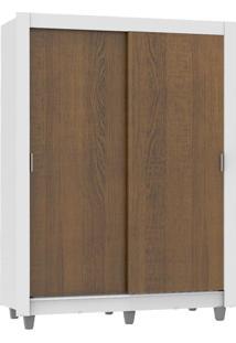 Guarda-Roupa Dallas Plus 2 Portas Rustic/Branco Madesa