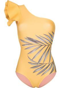 Johanna Ortiz Maiô Aloha Spirit Ombro Único - Yellow