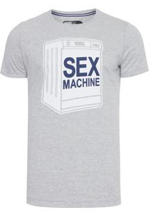 Camiseta Masculina Sex Machine - Cinza