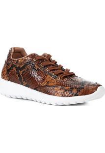 Tênis Couro Shoestock Snake Feminino