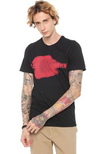 Camiseta John John Red Smudge Preta