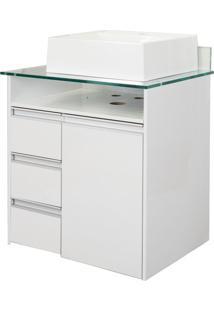 Gabinete De Banheiro Azzera 1 Pt 3 Gv Branco 65 Cm