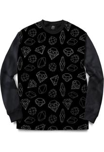 Blusa Bsc Full Diamond Full Print - Masculino