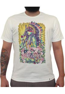 Girl Guns And Roses - Camiseta Clássica Masculina