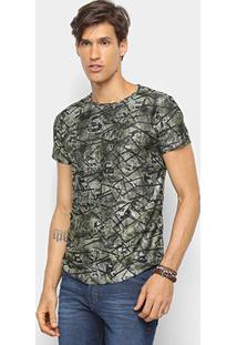 Camiseta Watkins & Krown Geométrica Masculina - Masculino-Verde