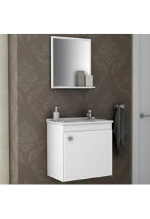 Conjunto Para Banheiro Siena Branco - Bechara Móveis