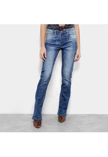 Calça Jeans Carmim Wessex Bootcut Feminina - Feminino-Azul
