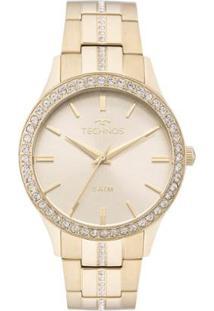 Relógio Feminino Technos Elegance Crystal 2035Mmk - Unissex-Dourado