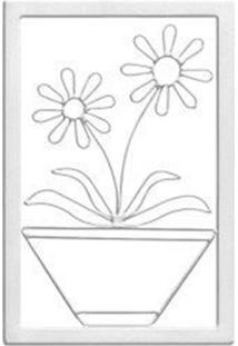 Quadro Decorativo Gerbera Branco