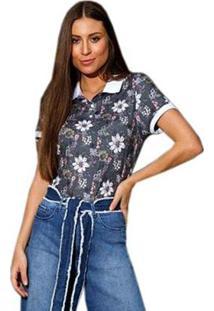 Camisa Polo Seeder Feminina Floral - Feminino
