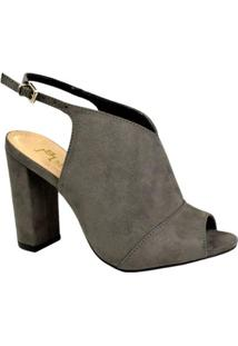 Ankle Boot M Shuz Feminina - Feminino-Cinza