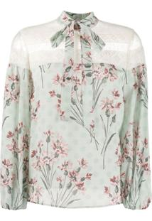 Redvalentino Blusa Com Padronagem Floral - Verde