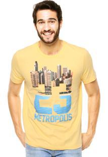 Camiseta Manga Curta Colcci Metropolis Amarela