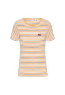 Camiseta Feminina Honey Sleeve - Amarelo