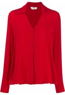 Fendi Blusa Com Botões - Vermelho