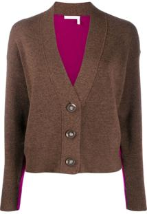 See By Chloé Cardigan Bicolor - Marrom