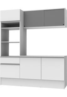 Cozinha Compacta Madesa Topázio 3 Pçs - Branco