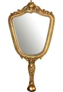 Espelho Parede Princesa Ouro 39X17X1Cm Trevisan Concept