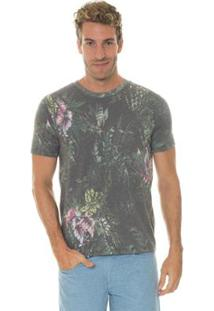 Camiseta Timberland Manga Curta Tbl Tropical Florest Masculina - Masculino-Cinza