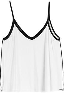 Blusa Branca Decote V Básica