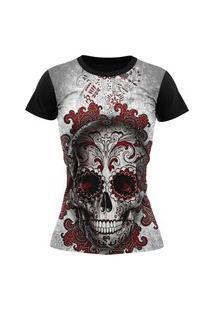 Camiseta Feminina Lucinoze Camisetas Manga Curta Mexicana Preta