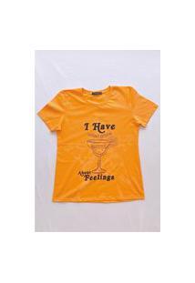 Camiseta Gorgeous Drink Laranja
