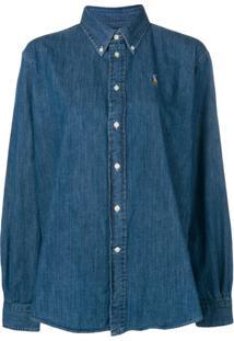 ef032ada6b Farfetch. Camisa Polo Ralph Lauren Feminina Azul U2 Algodão Jeans -