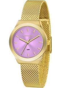Relógio Lince Lrg4493L U1Kx Feminino - Feminino-Dourado