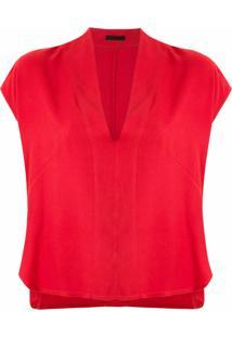 Osklen Blusa Decote Em V - Vermelho