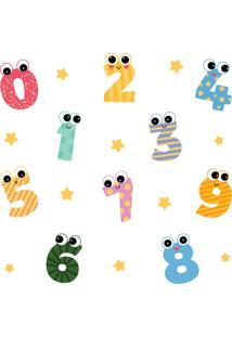 Adesivo De Parede Números Kids Infantil 10Un E Estrelas